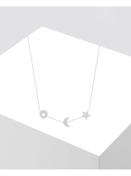 Silver Michelle Pendant Necklace