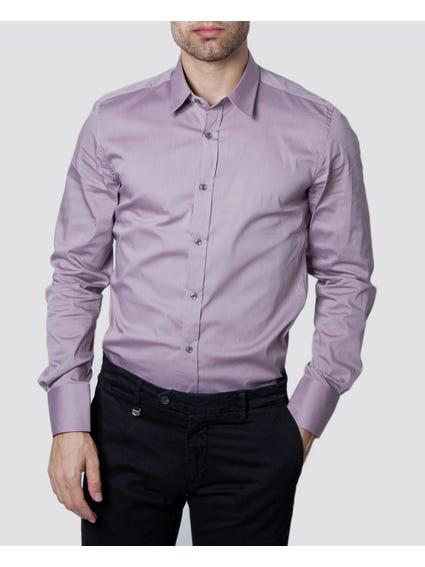 Purple Plain Long Sleeves Shirt