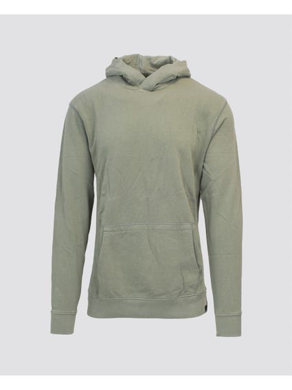 Green Hooded Long Sleeve Sweatshirt