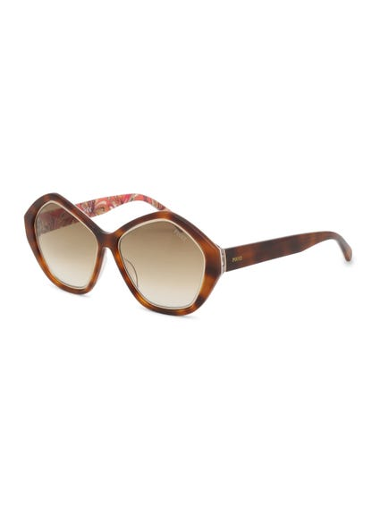 Brown Pentagular Rim Sunglasses
