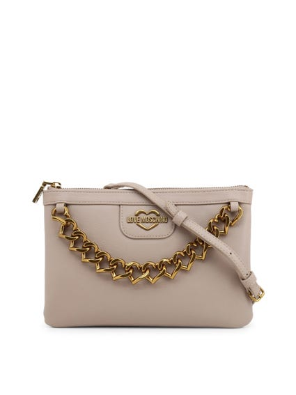Grey Chain Strap Clutch Bag