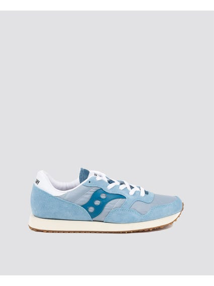 Blue Patterned Suede Sneakers