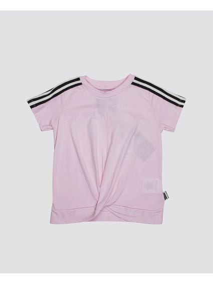 Stripe Sleeves Kids T-Shirt
