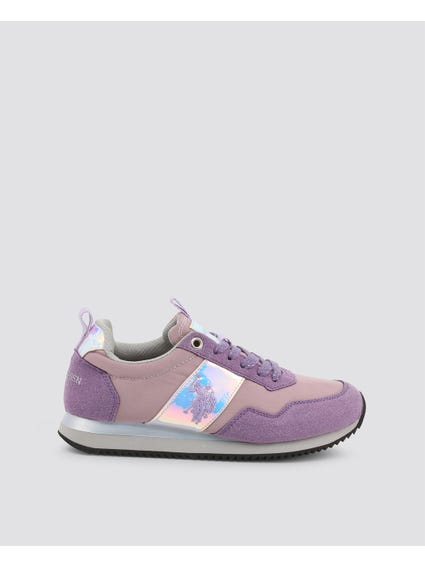 Violet Nobiw Embroidered Logo Sneakers