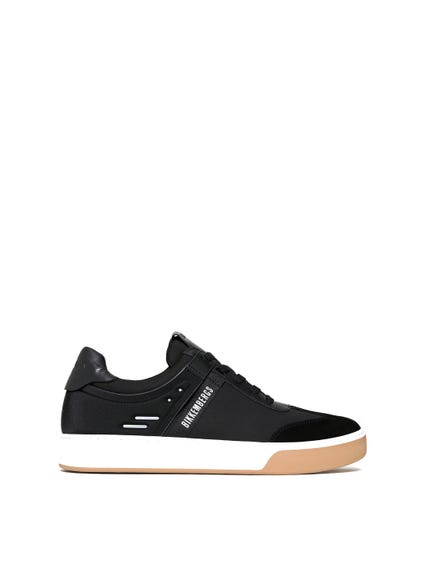 Black Round Toe Suede Sneakers