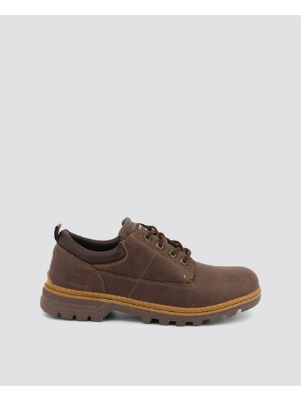 Coffee Brown Nevala Low Lace Up Shoes