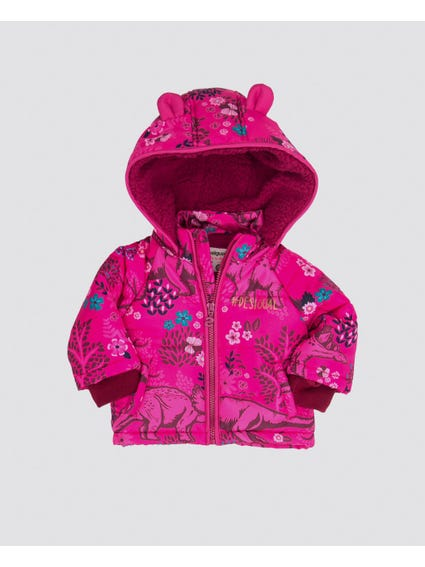 Printed Hooded Kids Jacket