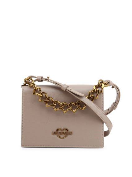 Grey Snap Chain Crossbody Bag