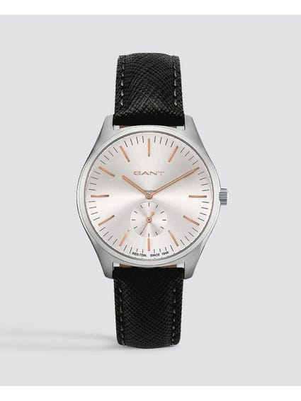 Black Springfield Leather Watch