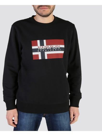 Black Bovicoc Round Neck Sweatshirt
