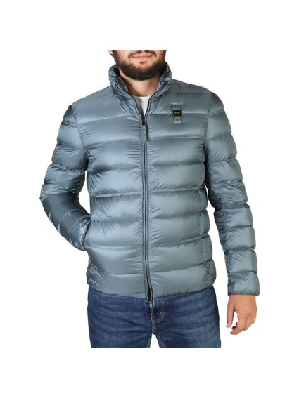 Grey Padded Zipper Jacket