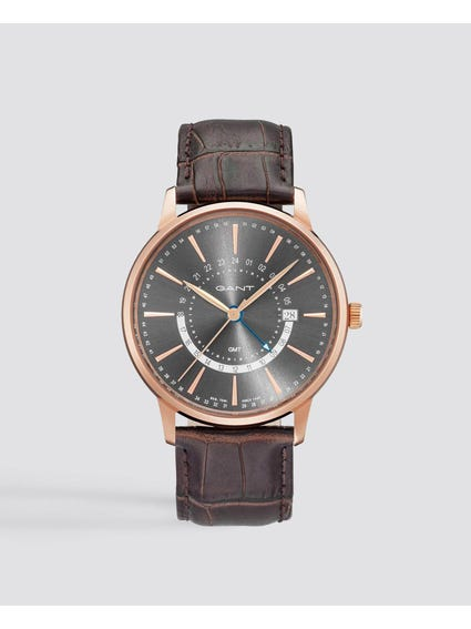 Brown Chester Analog Leather Watch