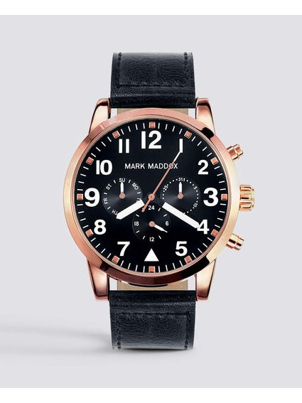Leather Aviator Watch