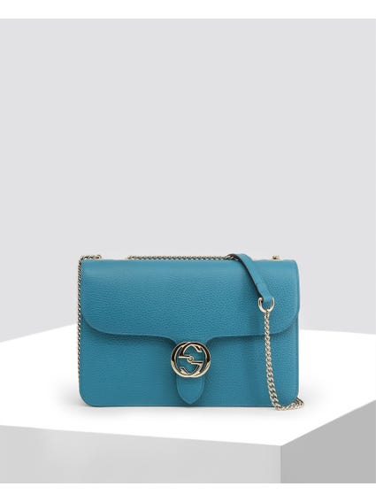Blue Full Linked Crossbody Bag