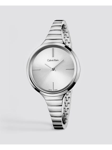 Lively Silver Dial Stainless Steel Watch