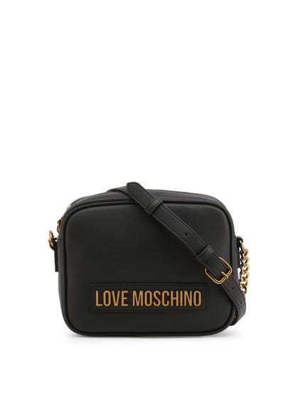 Black Buckle Strap Crossbody Bag