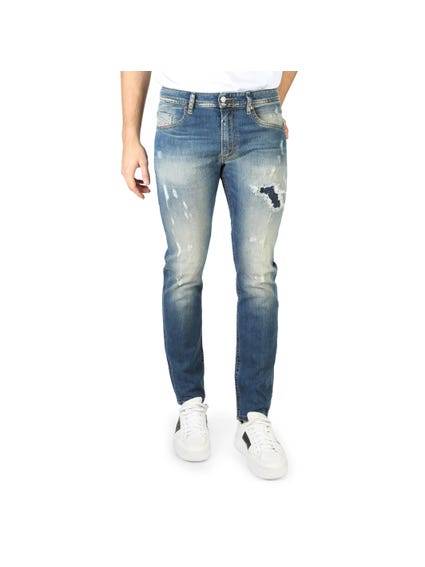 Denim Wash Button Slim Fit Jeans
