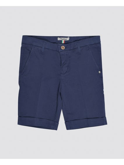 Blue Plain Kids Short