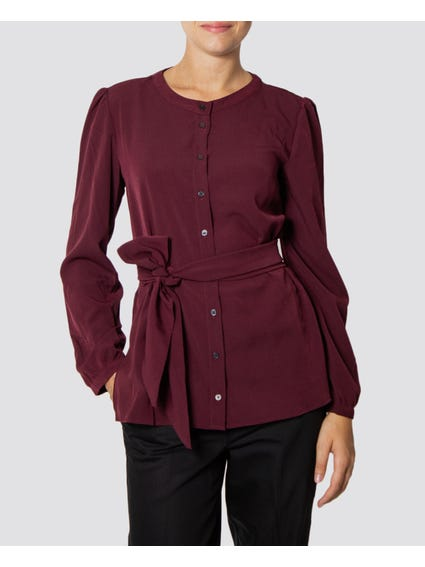 Purple Button Down Long Sleeve