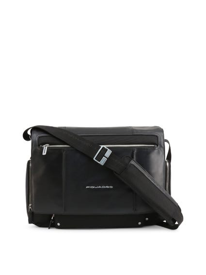 Black Pocket Zip Crossbody Bag