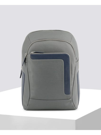 Grey Contrast Panel Backpack