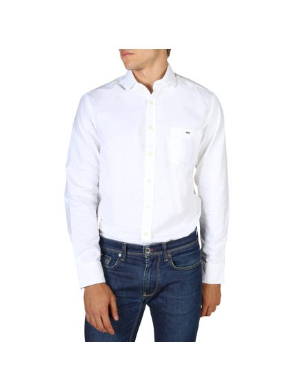 White Single Outer Pocket Shirt