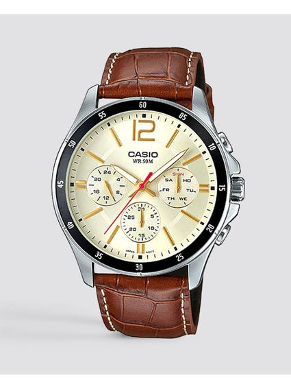 White Dial Chronograph Watch