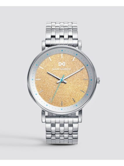 Silver Analog Stainless Steel Watch