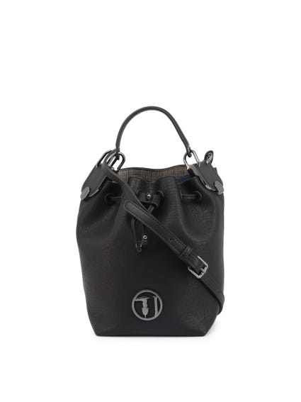 Black Menta Buckle Lock Bucket Bag