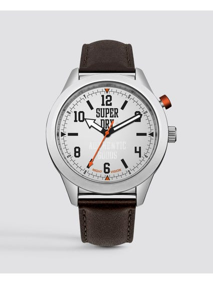 Round Silver Dial Analog Watch