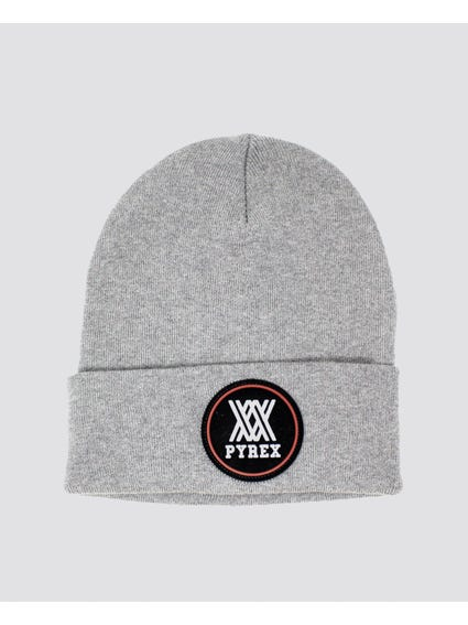 Grey Embroider Logo Knitted Beanie