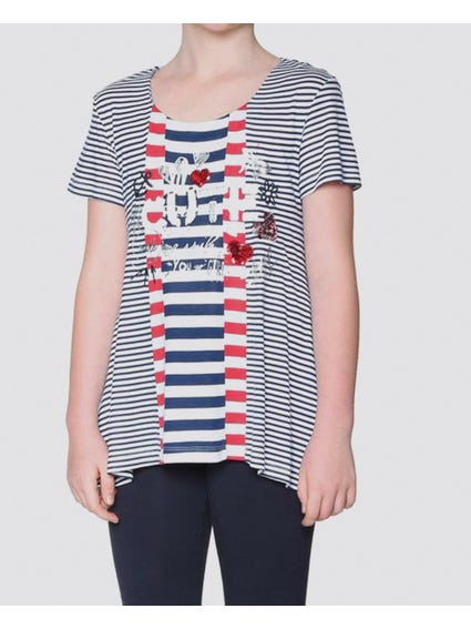 Stripe Relaxed Kids Top