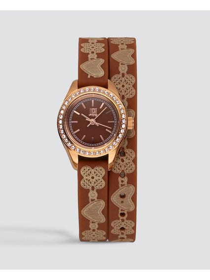 Brown Rococo Analog Watch