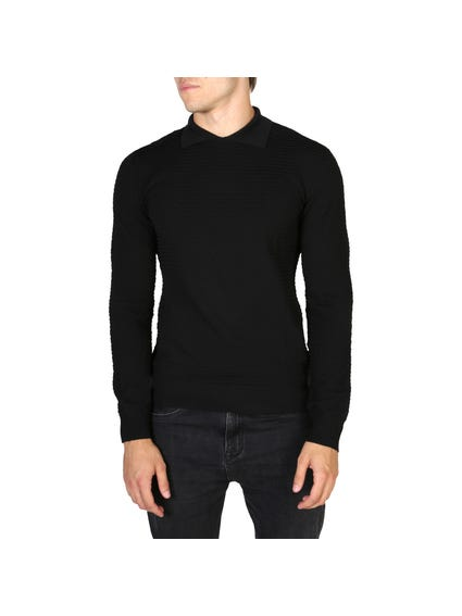Collar Knitted Sweatshirt