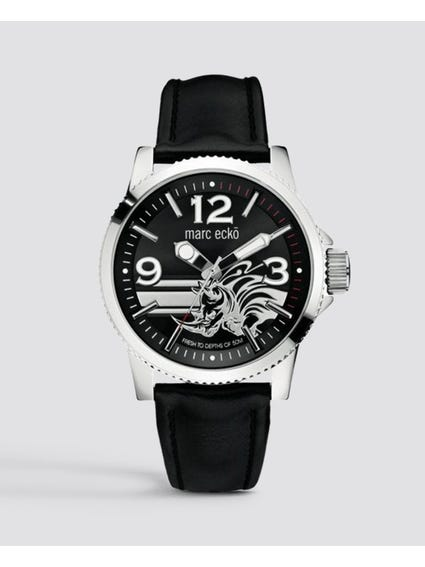 Flint Black Dial Analog Watch