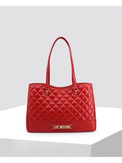 Red Classic Quilted Leather Bag