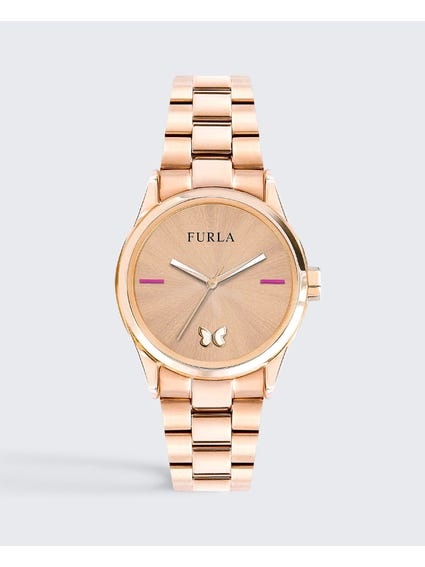 Rose Gold Eva Stainless Steel Watch