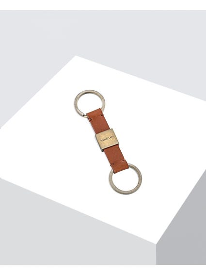 Brown Classic Leather Keychain