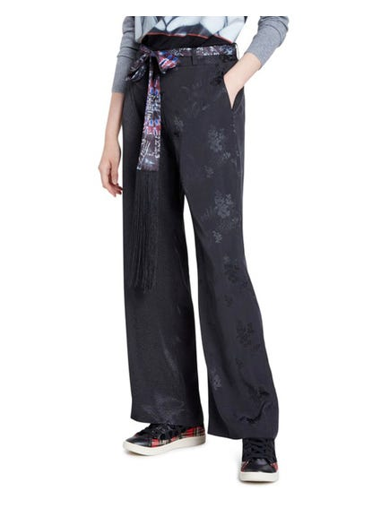 Zipper Floral Trousers