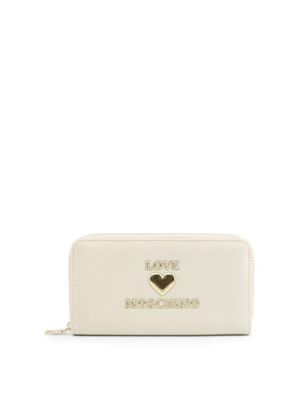 White Love Full Zip Wallet