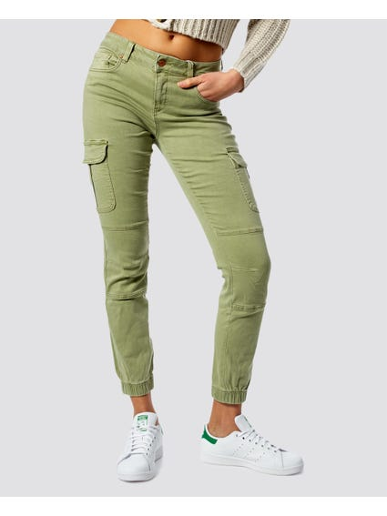 Fitted Hem Cargo Pants