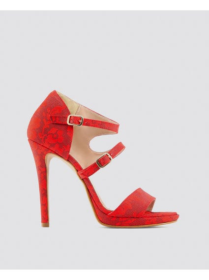 Red Iride Sandals