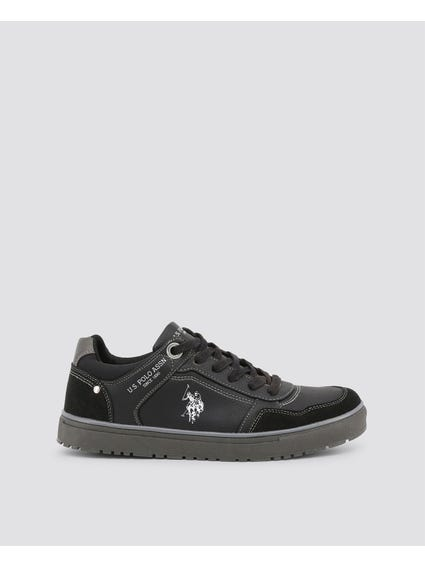 Black Walk Contrast Stich Sneakers