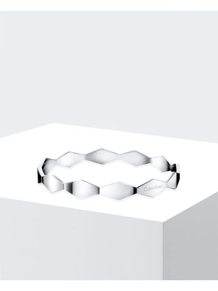 Silver Wave Stainless Steel Bangle