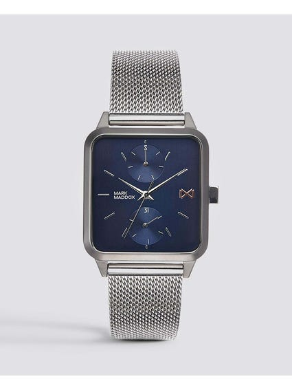 Stainless Steel Square Analog Watch