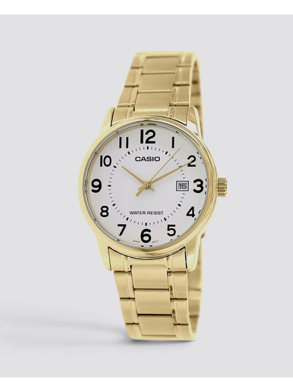 White Dial Stainless Steel Quartz Watch