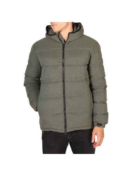 Green Teven Quilted Hood Jacket