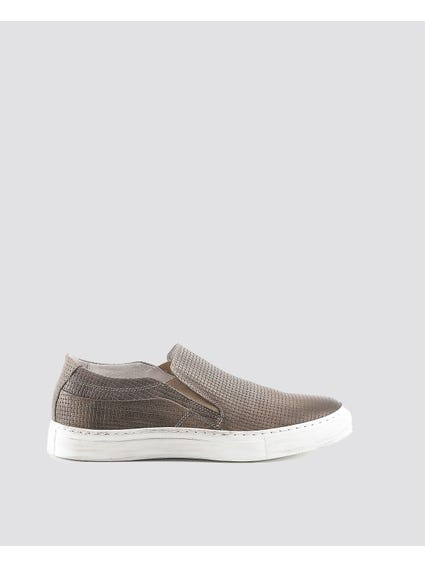 Brown Martino Braided Looks Slip Ons