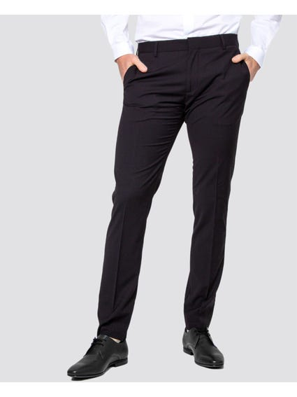 Black Smooth Slim Trouser