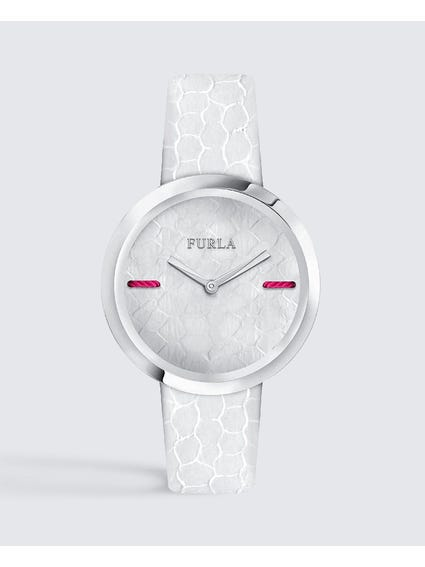 White My Piper Leather Watch